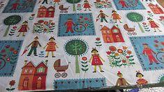 Vintage 1950's Scandinavian Nursery Curtain Cotton Fabric Textile -unused 4 yds   eBay