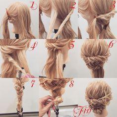 いいね!2,082件、コメント34件 ― (香川県/美容師)西川 ヒロキ《ヘアアレンジ・透けカラー》さん(@hiroki.hair)のInstagramアカウント: 「フォロワーさんリクエスト★ 見た目より簡単✨ネジネジまとめ髪✨ 1,横と後ろを分けます 2,横の髪をねじり後ろの髪を少しとります 3,それを結びます 4,反対の横の髪をねじり後ろの髪を少しとります…」