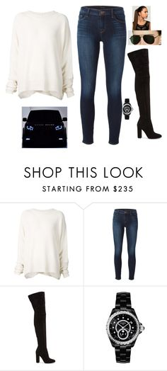 """""""Untitled #1853"""" by kainat-pervez ❤ liked on Polyvore featuring URBAN ZEN, J Brand, Gianvito Rossi and Chanel"""