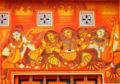 Image result for ashas murals Indian Gods, Indian Art, Mural Art, Murals, Kerala Mural Painting, Beautiful Rangoli Designs, Gods And Goddesses, Beautiful Space, Hobbies And Crafts