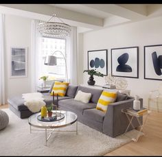 Black, White And Yellow Home Decor   Living Room Inspiration