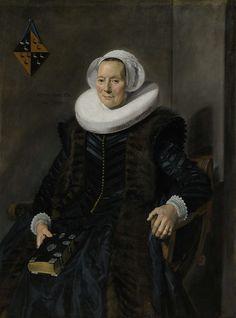 Portret van Maritge Claesdr Vooght (1577-1644), Frans Hals, 1639