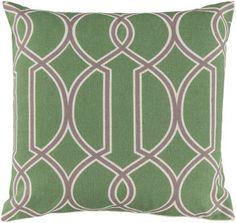 Surya Taylor FF-003 Lime Green Lattice Pillow