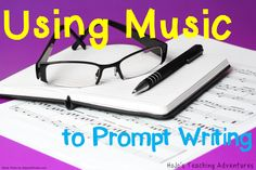 Students LOVE music! So use it as a writing prompt! Read the blog post to see one way you can incorporate music into your students' writing - regardless of the grade level you teach!