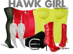 Inspired by Teen Titans character Hawk Girl. Disney Dresses, Disney Outfits, Girl Outfits, Fashion Outfits, Halloween Costumes For Teens, Adult Costumes, Teen Titans Characters, Book Characters, Hawk Girl Costume