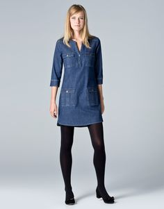 Denim dress - needless to say it is a lot longer on me!