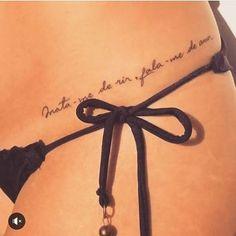 Because I always wear string bikinis - Tattoo Models Mini Tattoos, Love Tattoos, Sexy Tattoos, Body Art Tattoos, Small Tattoos, Tattoos For Women, Tatoos, Ribbon Tattoos, Tattoo Life