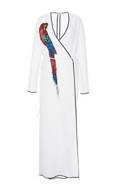 Raquel Robe Dress With Parrot Embroidery by ATTICO for Preorder on Moda Operandi