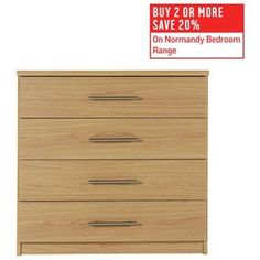 Buy HOME Normandy 4 Drawer Chest - Oak Effect at Argos.co.uk, visit Argos.co.uk to shop online for Chest of drawers