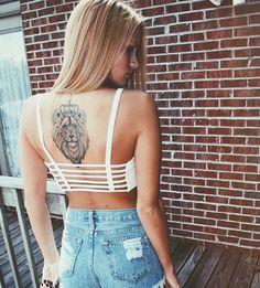 #ink #tattoo #lion #back
