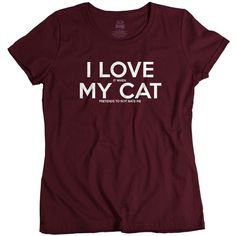 Cat Tshirt Funny Cat T Shirt Cute Birthday Gift for Cat Lovers I Love... ($15) ❤ liked on Polyvore featuring plus size women's fashion, plus size clothing, plus size tops, plus size t-shirts, shirts, tops, tees, cats, t-shirts and grey