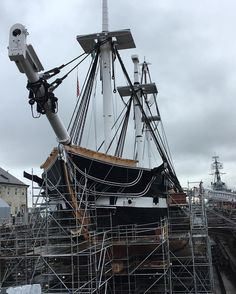 The USS Constitution. Time to remember history and realise we are making ours right now. Good luck. #vote #nhvotes #getoutandvote #2016election #ussconstitution #oldironsides #bostonharbor #drydock #ushistory #electionday #ivoted #done #sailing