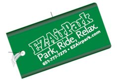 Brightly colored luggage tags with clear view of your name.