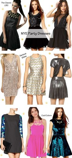 New Year's Eve Party Outfits | New Year's Eve 2014 Party Dresses #NYE