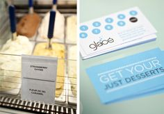 Glacé Ice Cream by Nathaniel Cooper, via Behance