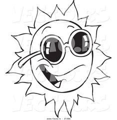 Free Sunglasses Template Coloring Pages