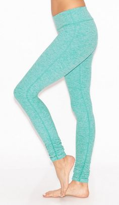 Salt and Pepper Gather Long Legging in Seaglass Spacedye by Beyond Yoga | Yoga pants, fitness fashion, activewear, pastel, spring style