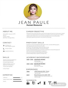 Free HR Fresher Resume Template If you like this design. Check others on my CV template board :) Thanks for sharing! Hr Resume, Job Resume Format, Job Resume Examples, Resume Tips, Cv Examples, Professional Resume Examples, Visual Resume, Resume Summary, Resume Writing