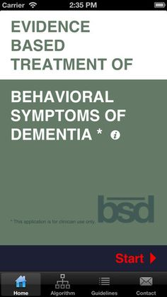 An App for the Evidence Based Treatment of Behavioral Symptoms of Dementia
