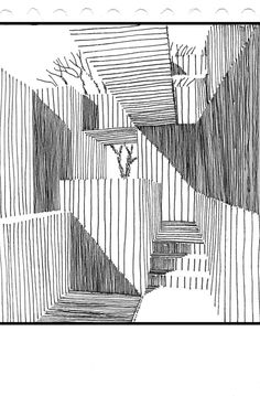Cool Art Drawings, Art Sketches, Architecture Drawings, Urban Sketching, Pen Art, Elements Of Art, Teaching Art, Art Sketchbook, Graphic Illustration