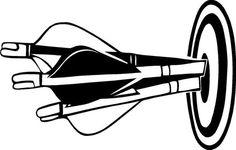 Arrows Target Bull Eye Bow Hunting Practice Archery Vinyl Decal Sticker 924 | eBay