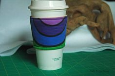 Polar Coordinates Rainbow - Coffee Sleeve #4 by CafeProjections on Etsy