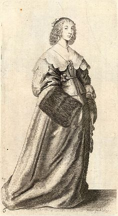 Wenceslas Hollar - Lady with fur muff on right hand