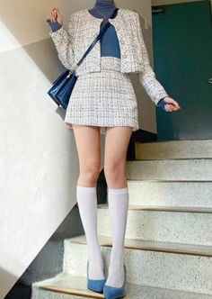 Cute Skirt Outfits, Edgy Outfits, Korean Outfits, Cute Casual Outfits, Cute Dresses, Girl Outfits, Fashion Outfits, Ulzzang Fashion, Kpop Fashion