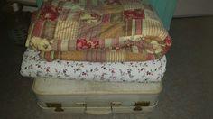 Brocante koffer en quilt I love it
