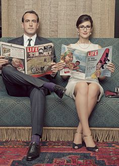 Mad Men inspired engagement photo session | retro | gorgeous!
