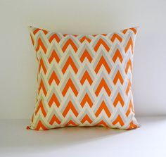 Decorative Pillow Cover Orange Pillows 18x18 by BlossomPillowCo, $19.00