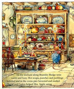 Brambly Hedge, kitchen