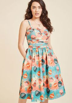 Get a Float of This Midi Dress