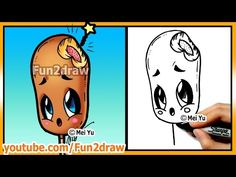 Learn to Draw Easy Things - Cute Food Corn Dog - Drawings for Beginners Best Art Lessons by Fun2draw - YouTube
