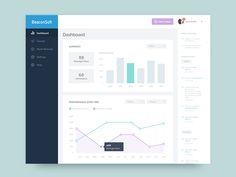 Dashboard design for BeaconSoft desktop app.   Follow me: Instagram