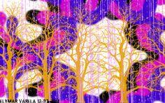mundo abstracto. La siguiente imagen fue creada por medio del Programa de Manipulación de Imágenes GNU. Con el pincel Dingbats y Trees, se utilizo la fuente llamada Scratchiees, de medidas (640x480) y de orientación Horizontal.
