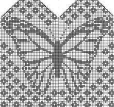 We Are Like Butterflies Mittens pattern by Emily Bujold | вязание(жаккард,вышивка) | Постила