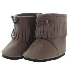 Doll Shoes - Brown Fashion Boots Shoes Fits American Girl Dolls, My Life Doll, Our Generation and other 18 inches Dolls
