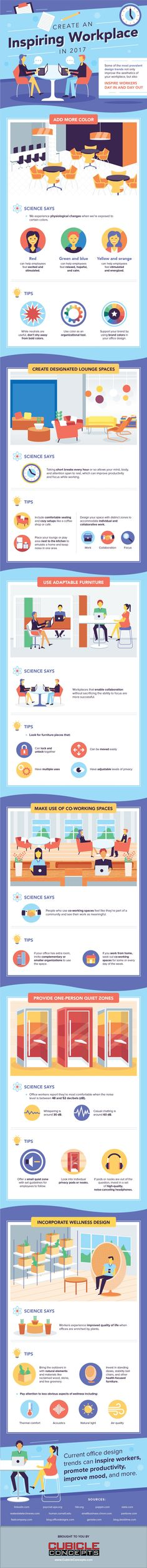Create an Inspiring Workplace in 2017 #Infographic #Business #Workplace