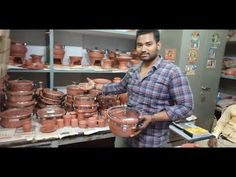 Mittikalaa Company Products - YouTube Pottery Painting Designs, Paint Designs, Home Organization Hacks, Organizing Tips, Ceramic Products, Kitchen Gadgets, Kitchen Tools, Shopping Places, Art Storage