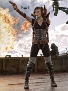 Milla Jovovich as Alice in the movie Resident Evil: Afterlife.