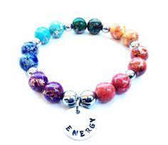 7 Chakra Beaded Energy Bracelet, Mala Bracelet, Yoga Bracelet, 7 Chakra Bracelet on Etsy, $28.95
