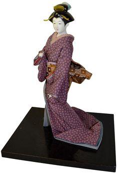Japońskie tradycyjne kimono lalka antyczne