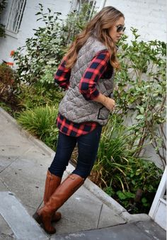 Fall Vest and Boots