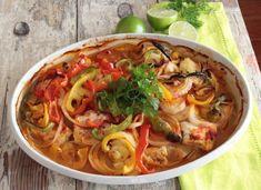 Ryba se zeleninou vlahodném sosu (Moqueca de peixe) - Taste Journey Japchae, Thai Red Curry, Journey, Ethnic Recipes, Pisces, The Journey