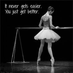 This is so true. Ballet builds up your strength.