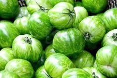 Verse groene zebra tomaten