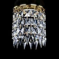 ArtGlass crystal Spot lights decorated with crystal stones of various shapes and designs Modern Lighting, Lighting Design, Spot Lights, Stones And Crystals, Shapes, Decor, Light Design, Decoration, Decorating