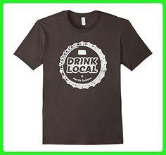 Mens Drink Local North Dakota Craft Beer Bottle Cap T-Shirt 2XL Asphalt - Food and drink shirts (*Amazon Partner-Link)