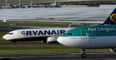 Aer Lingus and Ryanair aircraft sit on the runway at Dublin International Airport Dublin Airport, Thing 1, Commercial Aircraft, Private Jet, International Airport, Military Aircraft, Aviation, Aeroplanes, Airports